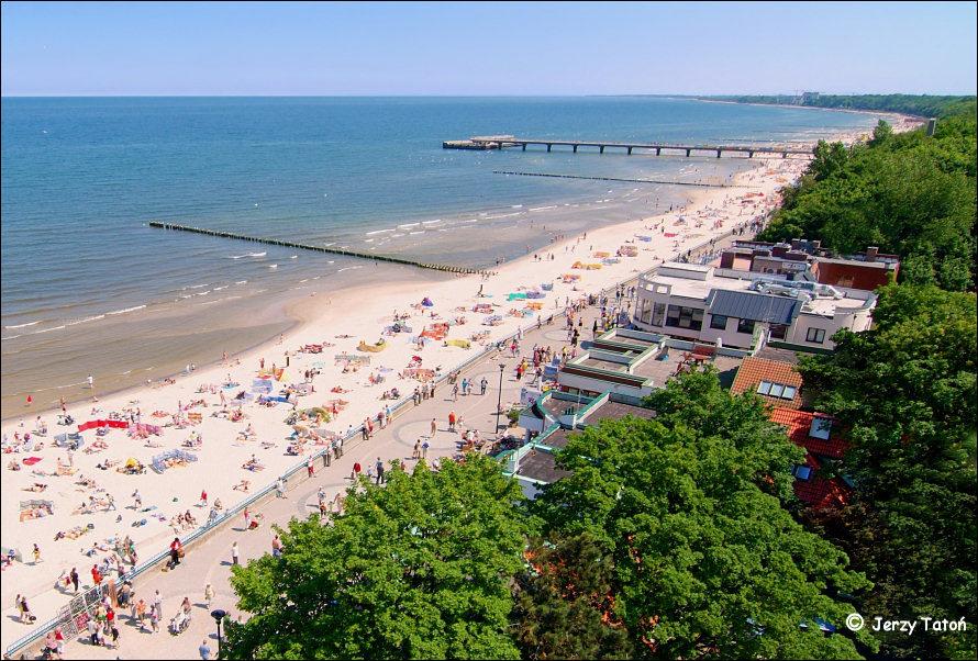 Kołobrzeg województwo zachodniopomorskie - plaża - zdjęcia - foto: www.jerzytaton.pl/inne/sciezki/pages/kolobrzeg-plaza.htm